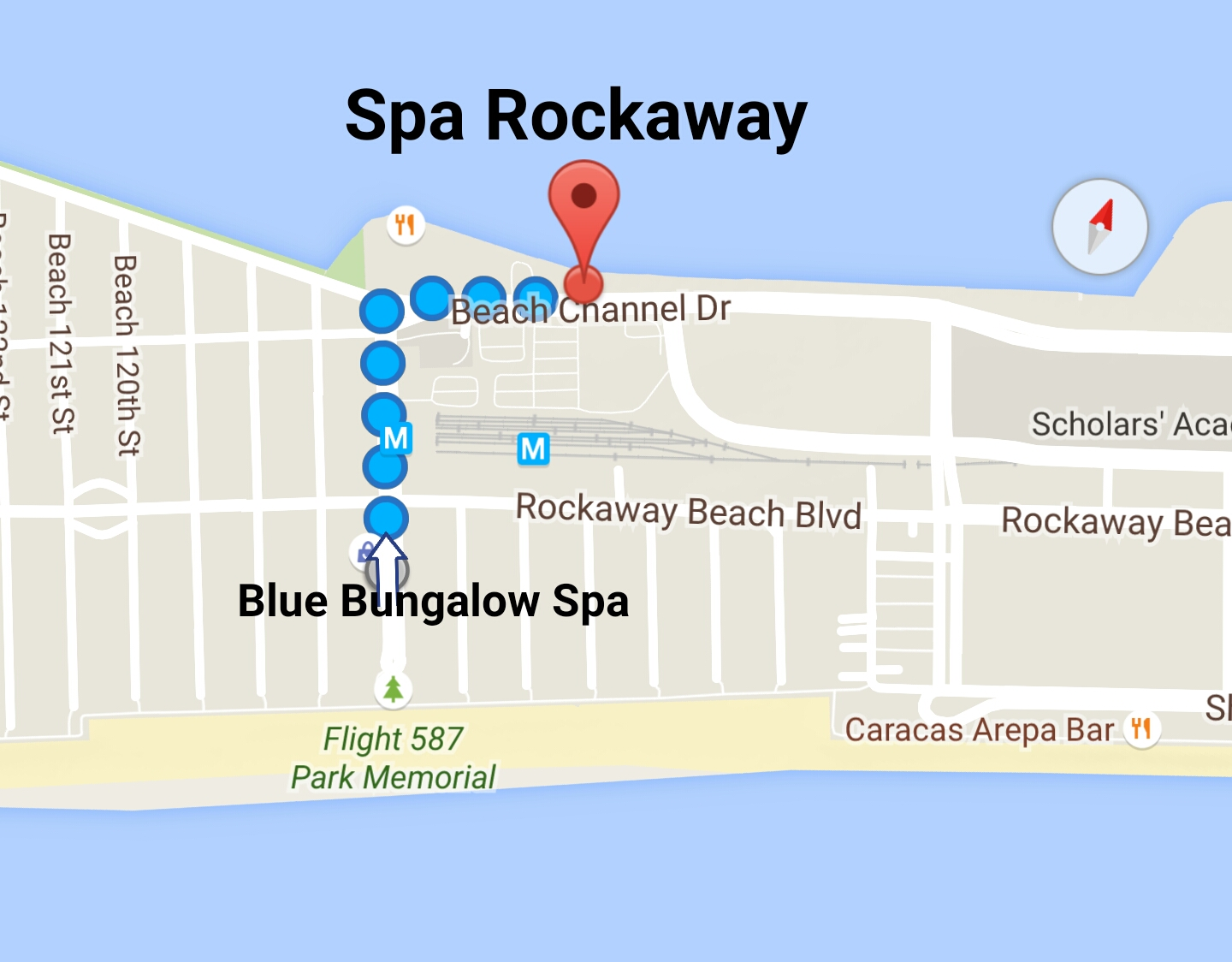 Direction to New Location Spa Rockaway
